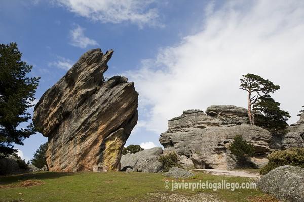 Formaciones rocosas en el paraje de Castroviejo © Javier Prieto Gallego.