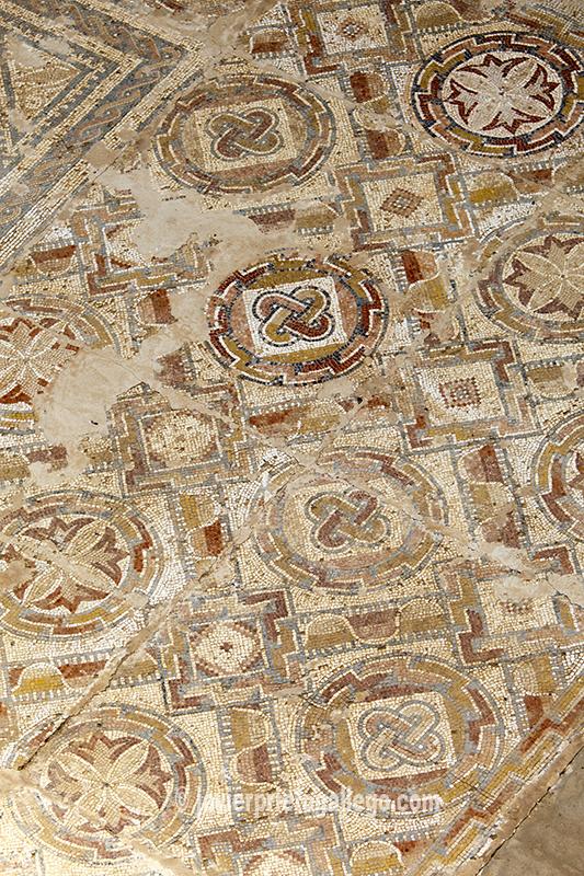 """Mosaicos de la villa romana """"La Dehesa"""", próxima a la localidad de Cuevas de Soria. Soria. Castilla y León. España © Javier Prieto Gallego"""