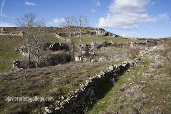 Restos de la mina de estaño La Teresa, cerca de Almaraz de Duero. Zamora. Castilla y León. España. ©Javier Prieto Gallego