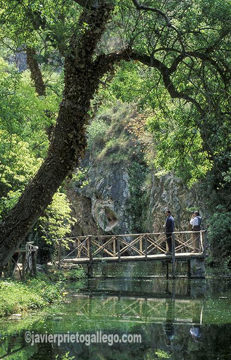 Uno de los lagos interiores del Monasterio de Piedra. Aragón. España. © Javier Prieto Gallego