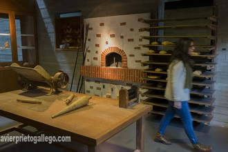 Reproducción de una tahona tradicional en el Museo del Pan. Mayorga. Valladolid. Castilla y León. España. ©Javier Prieto Gallego