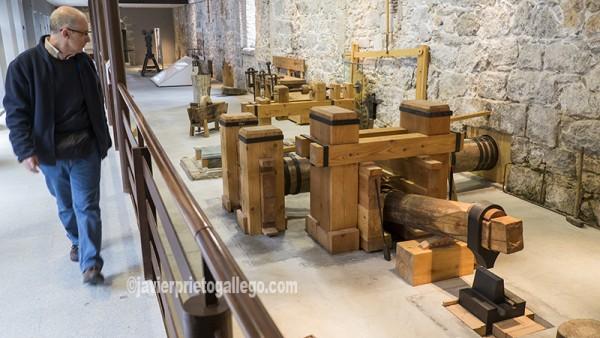 Mazo hidráulico del taller de la herrería de la Real Casa de Moneda. Segovia. Castilla y León. España. ©Javier Prieto Gallego