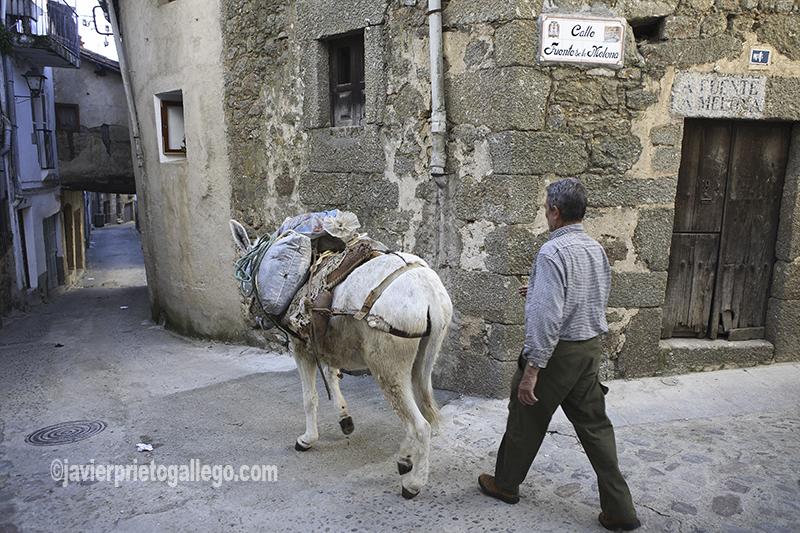 Casco urbano tradicional de la localidad de Gata. Sierra de Gata. Extremadura. España. © Javier Prieto Gallego