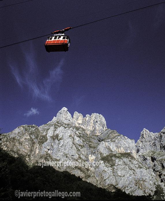 Teleférico de Fuente Dé. Picos de Europa. Liébana. Cantabria. España.