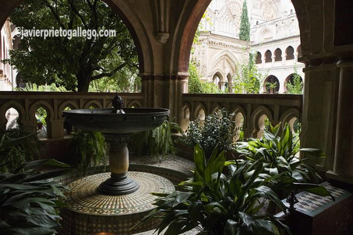 Claustro Mudéjar del monasterio de Guadalupe. Localidad de Guadalupe. Sierra de Villuercas. Cáceres. Extremadura. España. © Javier Prieto Gallego
