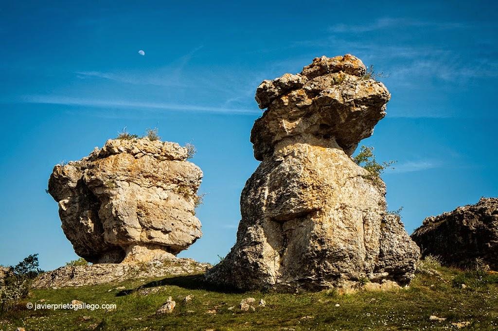 El desgaste sobre algunas peñas sugieren la forma de gigantescos animales. Monumento Natural de Las Tuerces. Palencia. Castilla y León. España. © Javier Prieto Gallego