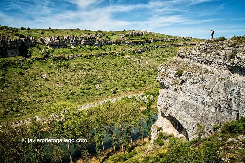 El río Pisuerga y el cañón de La Horadada, en el Monumento Natural de Las Tuerces. Palencia. Castilla y León. España. © Javier Prieto Gallego