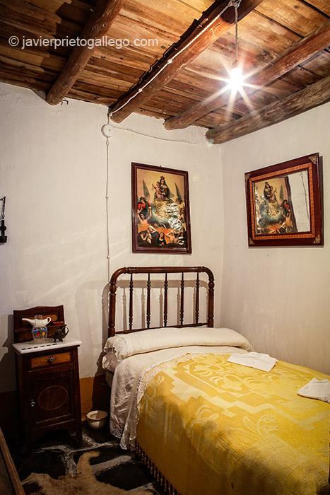 Dormitorio. Museo etnográfico Casa Labriega. Localidad de Valle de la Serena. Comarca de La Serena. Badajoz. Extremadura. España. © Javier Prieto Gallego