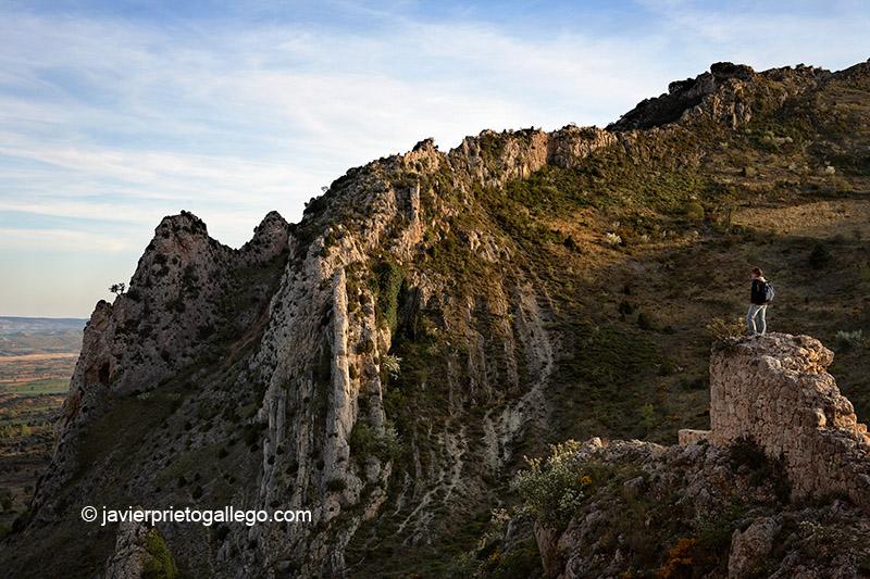Vista de La Bureba desde lo alto del castillo. Poza de la Sal. Burgos. Castilla y León. España © Javier Prieto Gallego