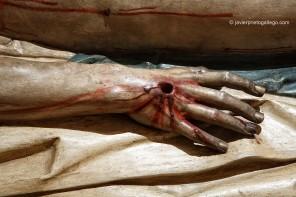 Mano de un Cristo yacente de Gregorio Fernández (Valladolid)