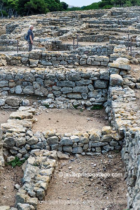 Ruinas de Ampurias. Ciudad griega y romana situada en la comarca gerundense del Alto Ampurdán.Costa Brava. Gerona. España © Javier Prieto Gallego;