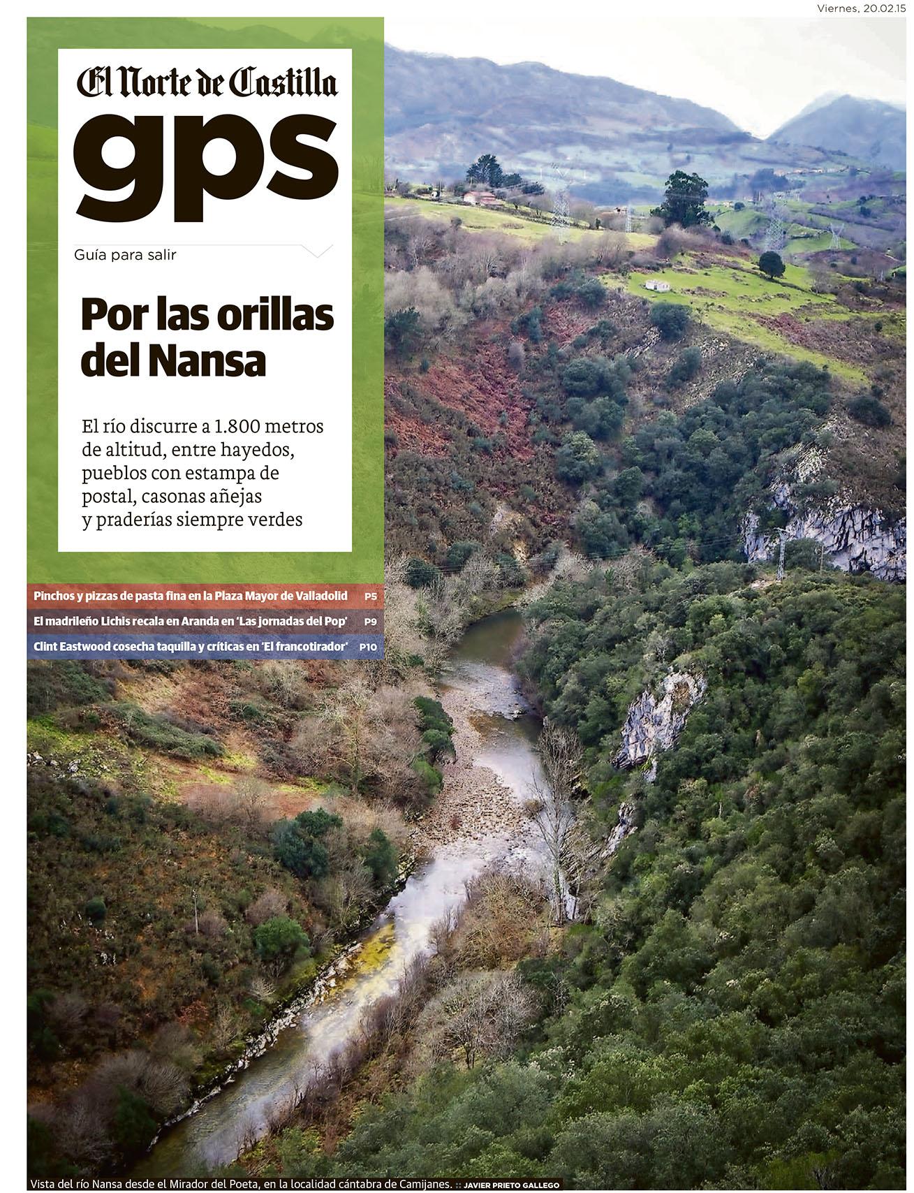 Reportaje sobre la Senda Fluvial del Nansa publicado por Javier Prieto Gallego en EL NORTE DE CASTILLA.