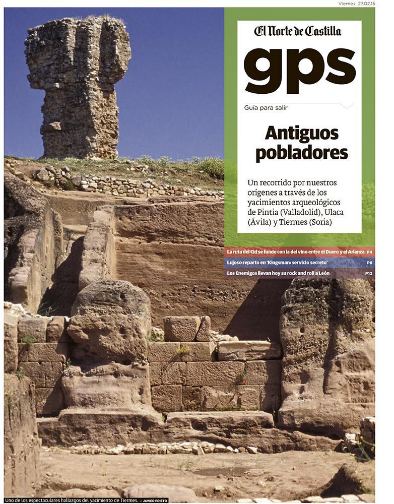 Tres enclaves arqueológicos en Castilla y León. Reportajes de javier prieto gallego en EL NORTE DE CASTILLA.