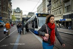 Tranvía en Koningsplein (Ámsterdam)