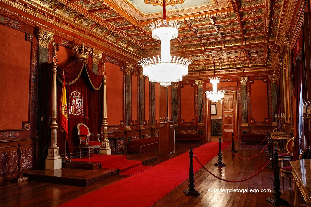 Salón del Trono. Palacio Real. Valladolid. Castilla y León. España, 2008 © Javier Prieto Gallego