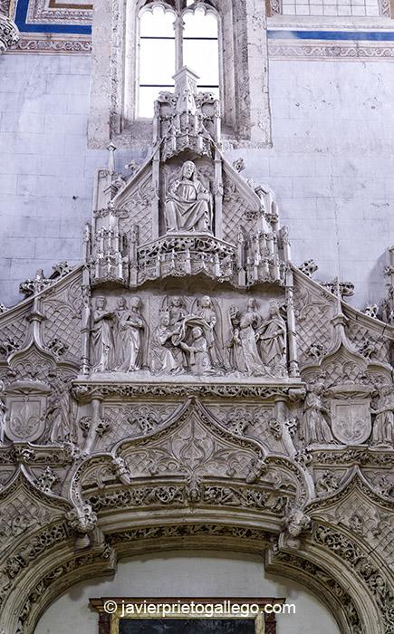 Portada Interior de la iglesia de San Pablo que daba acceso a la capilla de San Gregorio. Valladolid. Castilla y León. España. © Javier Prieto Gallego