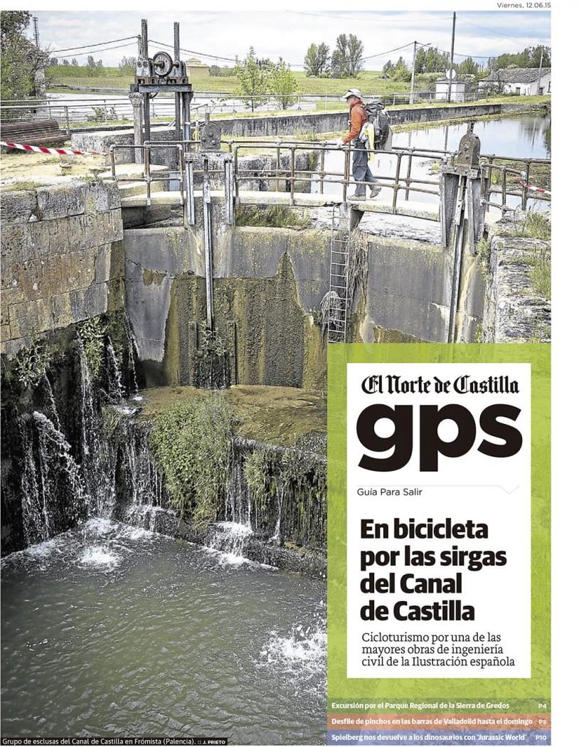 El Canal de Castilla en bicicleta. Reportaje de Javier Prieto Gallego publicado en EL NORTE DE CASTILLA