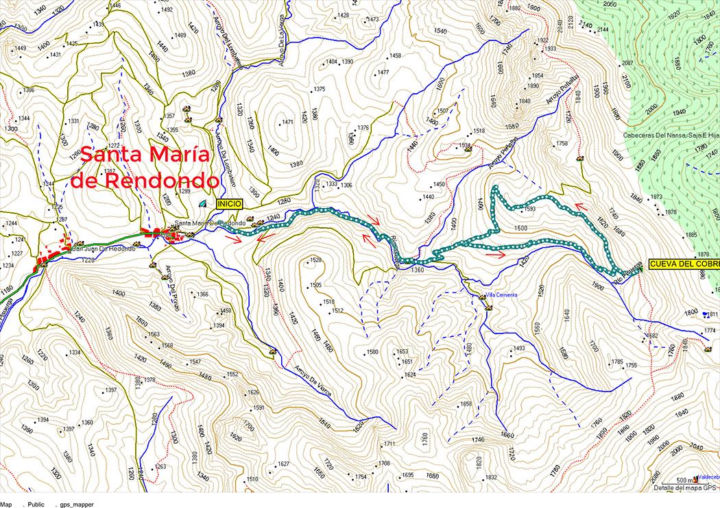 Croquis del paseo a cueva del cobre. Montaña Palentina.