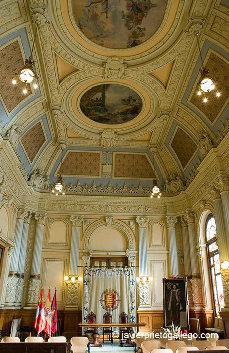Salón de Recepciones. Ayuntamiento de Valladolid. Castilla y León. España © Javier Prieto Gallego