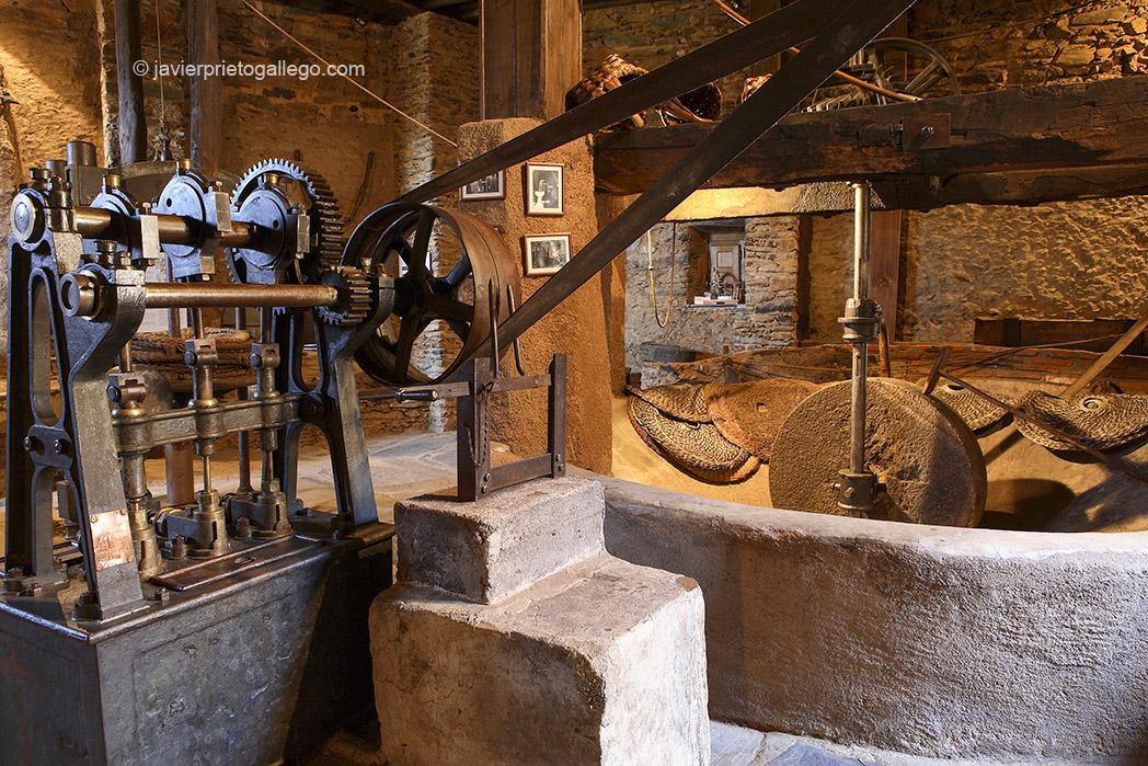 Interior del museo del aceite El Molino del Medio. Localidad de Robledillo de Gata. Sierra de Gata. Extremadura. España. © Javier Prieto Gallego