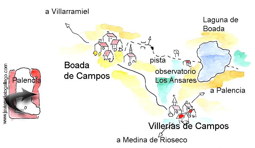 Croquis del paseo hasta la laguna de Boada de Campos. Tierra de Campos. Palencia. Castilla y León. España © Javier Prieto Gallego