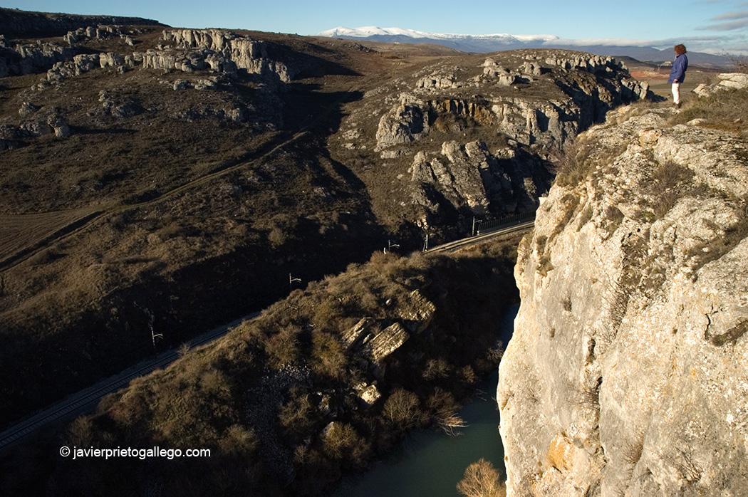Río Pisuerga y Cañón de La Horadada en el paraje geológico de Las Tuerces. Palencia (España). © Javier Prieto Gallego