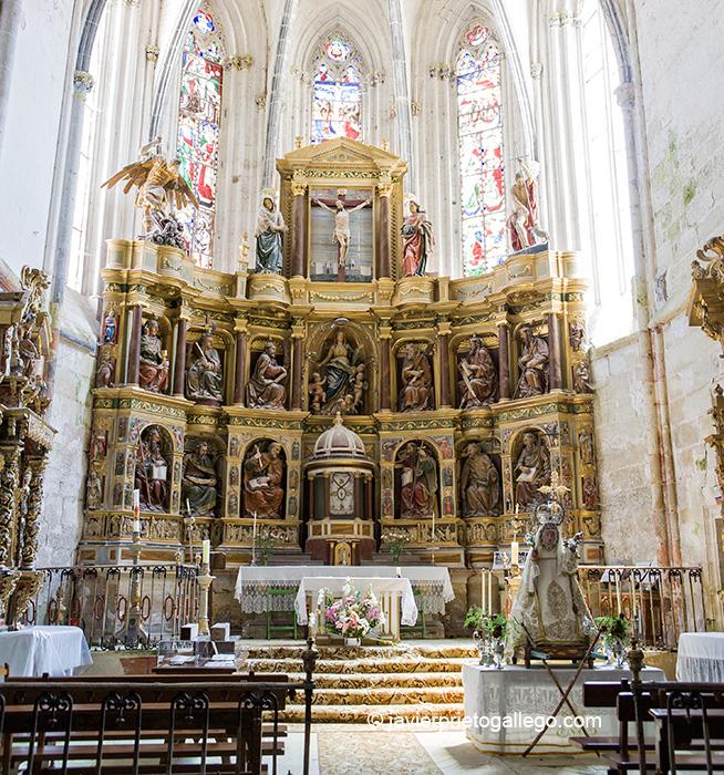 Retablo mayor de la Colegiata de Valpuesta. siglo XIV. Burgos. Castilla y León. España. © Javier Prieto Gallego