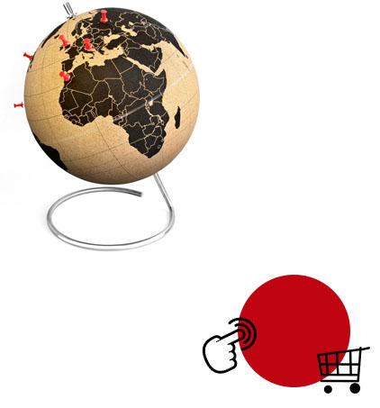 globo terraqueo corcho mini