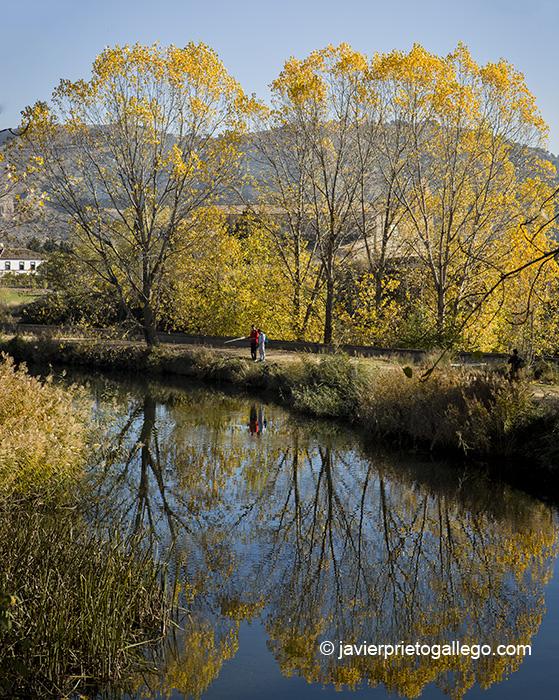 Pescadores en el Canal de Castilla frente al monasterio de Santa María de Palazuelos. Cabezón de Pisuerga. Castilla y León. España. © Javier Prieto Gallego