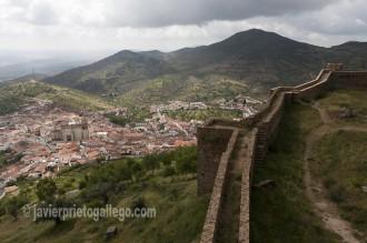 Vista desde el castillo de la localidad de Feria.