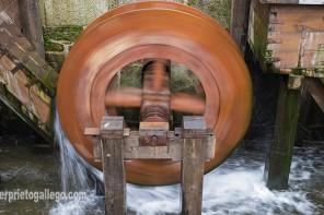 Ruedas hidráulicas que movían el taller de la herrería de la Real Casa de Moneda. Segovia. Castilla y León. España. ©Javier Prieto Gallego