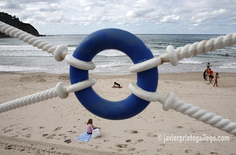 Playa de Ribadesella. Paseo marítimo. Ribadesella. Asturias. España. © Javier Prieto Gallego
