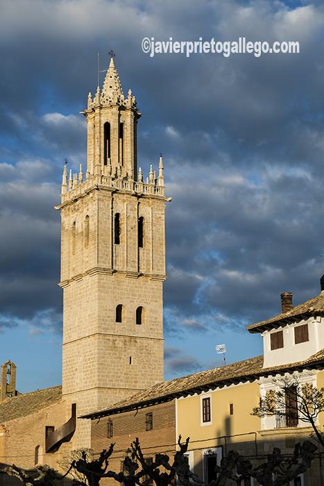 """Torre de la iglesia de San Pedro conocida como """"la estrella de Campos"""". Fuentes de Nava. Ruta del Renacimiento. Tierra de Campos. Palencia. Castilla y León. España ©Javier Prieto Gallego"""