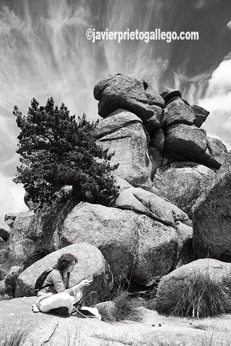 Peña del Arcipreste. Monumento al Arcipreste de Hita. Monumento Natural de Interés Nacional. Sierra de Guadarrama. Madrid. España.© Javier Prieto Gallego