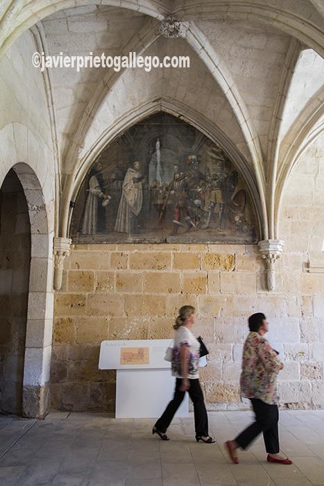 Bóvedas del claustro de los Caballeros del monasterio cisterciense de Santa María de Huerta. Soria. Castilla y León. España. © Javier Prieto Gallego