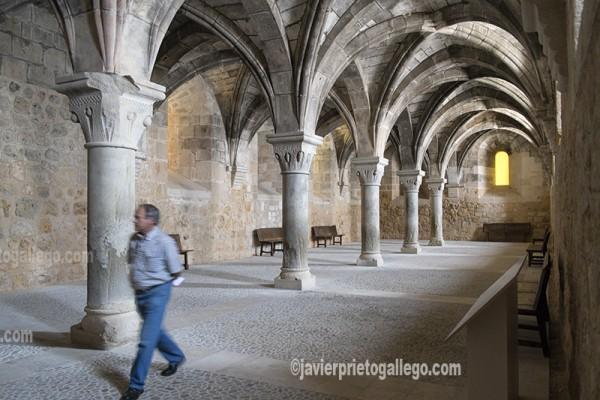 Comedor de Conversos. Siglo XII. Monasterio cisterciense de Santa María de Huerta. Soria. Castilla y León. España. © Javier Prieto Gallego