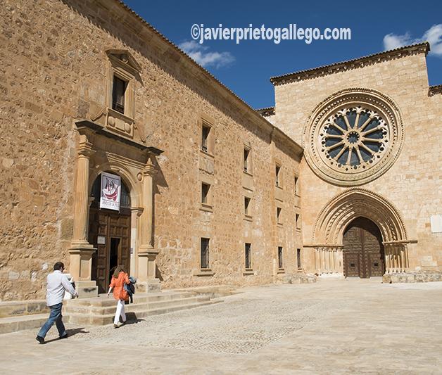 Fachada exterior del monasterio cisterciense de Santa María de Huerta. Soria. Castilla y León. España. © Javier Prieto Gallego