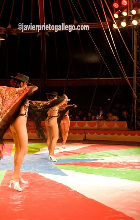 Uno de los números que forman parte del espectáculo del Gran Circo Mundial. [Valladolid. Castilla y León. España.© Javier Prieto Gallego]
