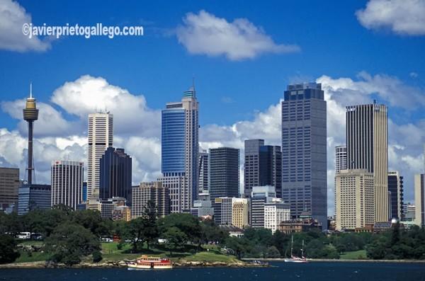 Bahía de Circular Quay y el skyline de la ciudad. Sidney. Australia. © Javier Prieto Gallego