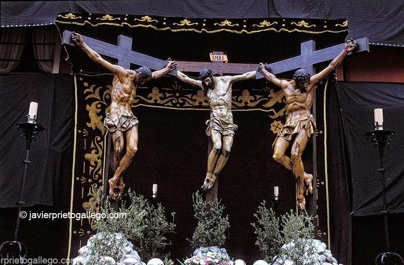 Sermón de la Siete Palabras. Acto original de la Semana Santa de Valladolid. Plaza Mayor. Valladolid. Castilla y León. España © Javier Prieto Gallego