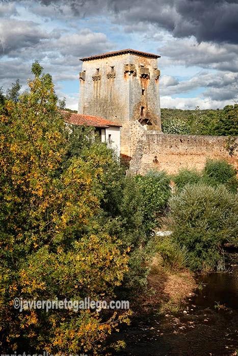Torre de Doña Urraca en la localidad de Covarrubias junto al río Arlanza. En el Camino de la Lana y el Camino del Cid. [Covarrubias. Castilla y León. España. © Javier Prieto Gallego]