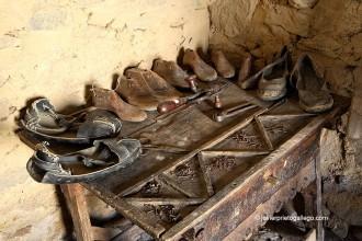 Aperos de zapatero. Museo etnográfico Casa Labriega. Localidad de Valle de la Serena. Comarca de La Serena. Badajoz. Extremadura. España. © Javier Prieto Gallego