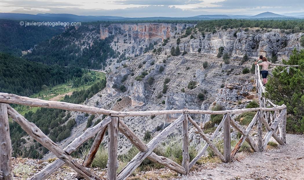 El Cañón del Río Lobos desde el Mirador de la Galiana. Parque Natural Cañón del Río Lobos. Soria. Castilla y León. España. © Javier Prieto Gallego;