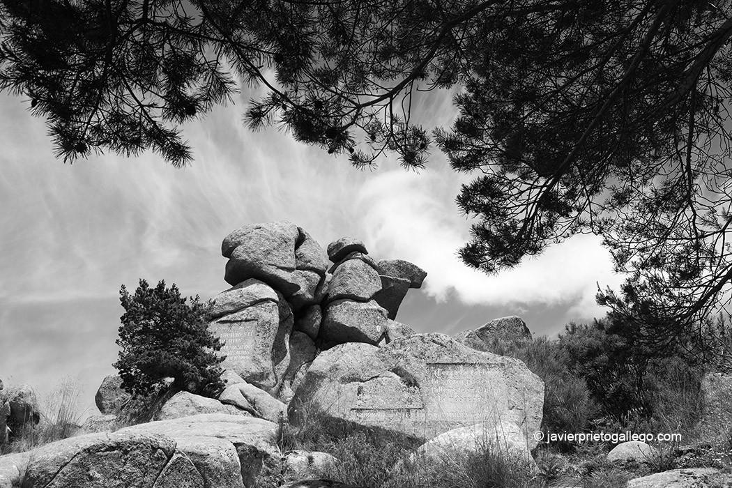 Peña del Arcipreste. Monumento al Arcipreste de Hita. Monumento Natural de Interés Nacional. Sierra de Guadarrama. Madrid. España © Javier Prieto Gallego