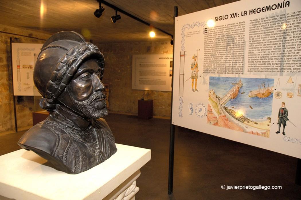 Busto de Carlos I. Museo de las Merindades en la Ruta del Emperador Carlos V. Medina de Pomar. Burgos. Castilla y León. España © Javier Prieto Gallego.