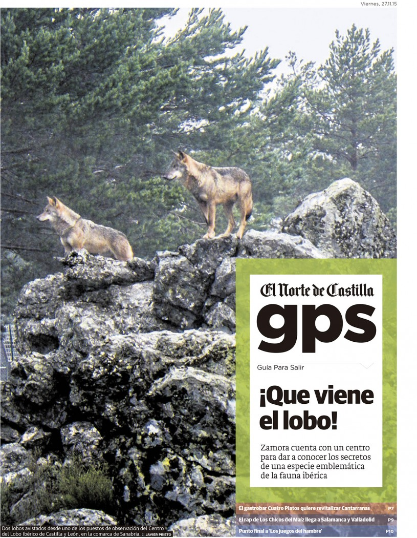 Centro del Lobo Ibérico. Reportaje publicado por Javier Prieto Gallego en el periódico EL NORTE DE CASTILLA.