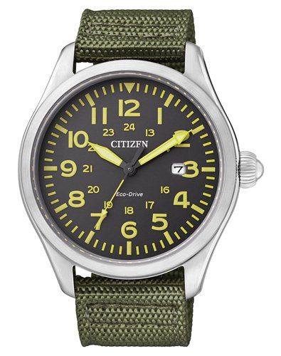 Citizen Men's Citizen BM6831-16 Eco-Drive Stainless Steel Watch with Green