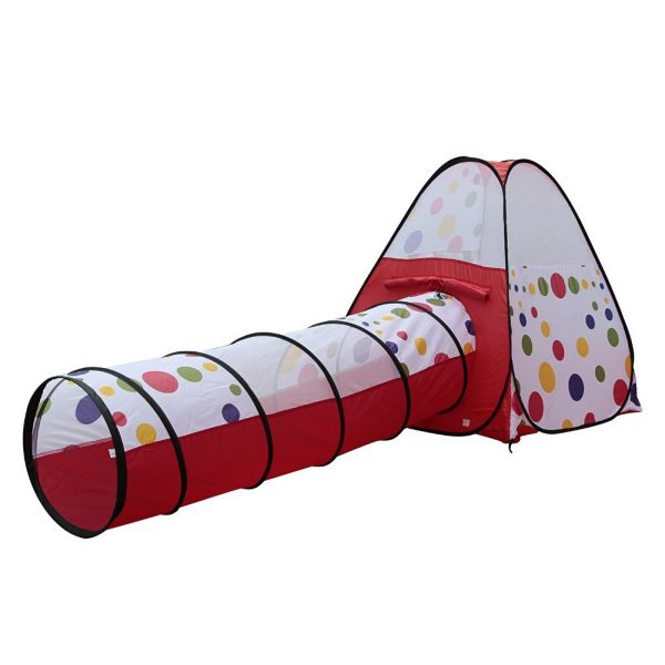 Tienda de campaña de juguete con túnel