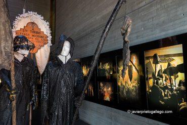 Exposición sobre la fiesta del Vítor de Mayorga que se exhibe en el Museo del Pan. Mayorga. Valladolid. Castilla y León. España. ©Javier Prieto Gallego