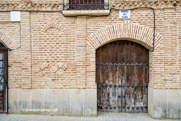 Portada del hospital de San Lázaro. Mayorga. Valladolid. Castilla y León. España. ©Javier Prieto Gallego